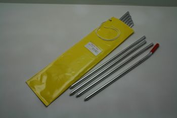 10 Anodized Rods in Bag, 22-1/2 ft.