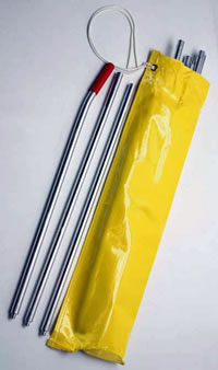 10 Plain Bright Aluminum in Bag, 22-1/2 ft.