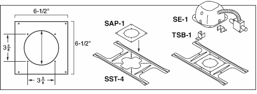 Speaker Adaptor Plate - Use With SST-4